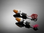 Moto blinkry do řídítek, DIAMOND, 22 / 25mm HWH 68-2580
